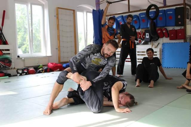 Mein Bro. Hubert Hérenger war  im Juli bei uns zum Ju-Jutsu-Do & BJJ Sommerseminar.