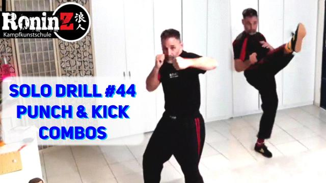 Solo Drill 44 Punch & Kick Combos