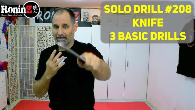 Solo Drill 208 Knife 3 basic Drills