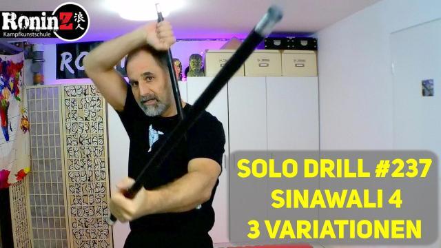Solo Drill 237 Sinawali 4 - 3 Variationen