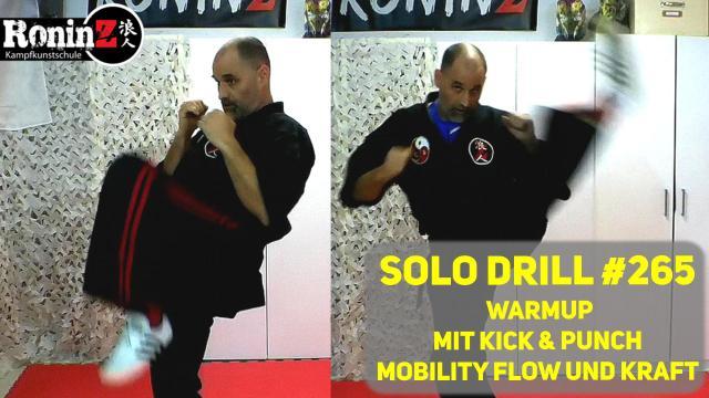 Solo Drill 265 Warmup mit Kick & Punch, Mobility Flow und Kraft