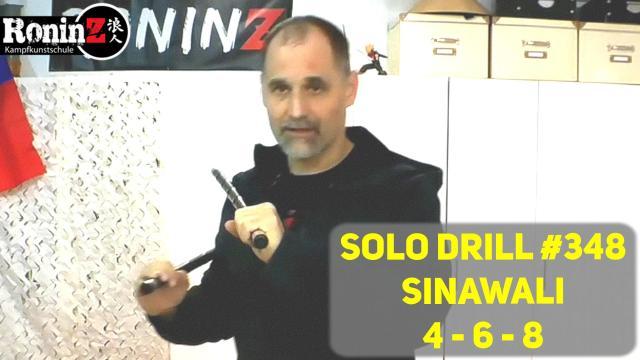 Solo Drill 348 Sinawali 4 6 8