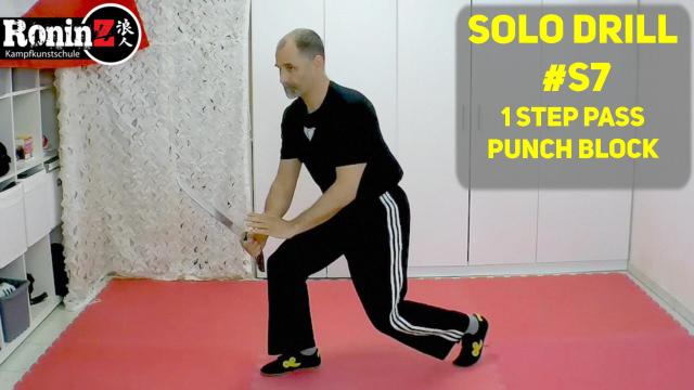 Solo Drill #S7 1 Step Pass - Punch Block