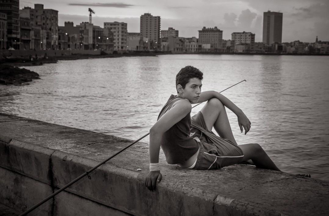 Fishing on the Malecon, Havana photo