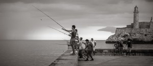 Fishing on the Malecon, Havana photo