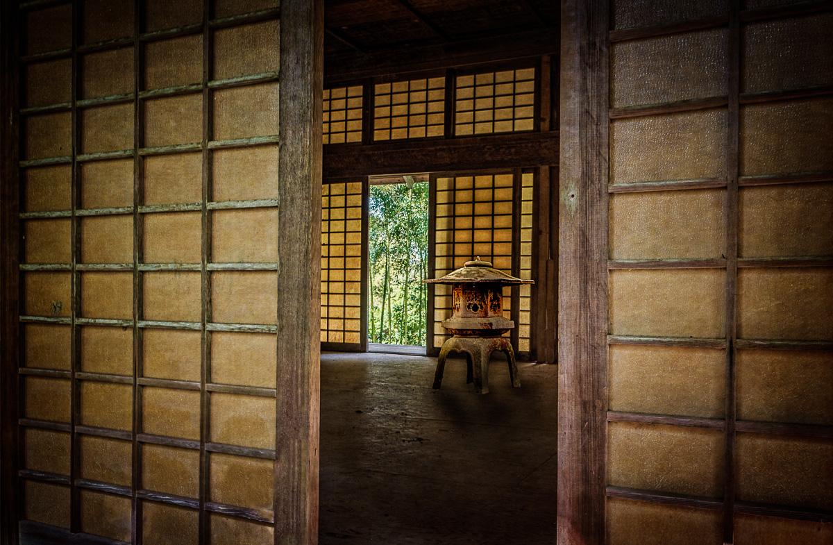 Japanese Tea House with Latern