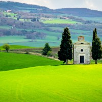 The Chapel of the Madonna di Vitaleta - Tuscany