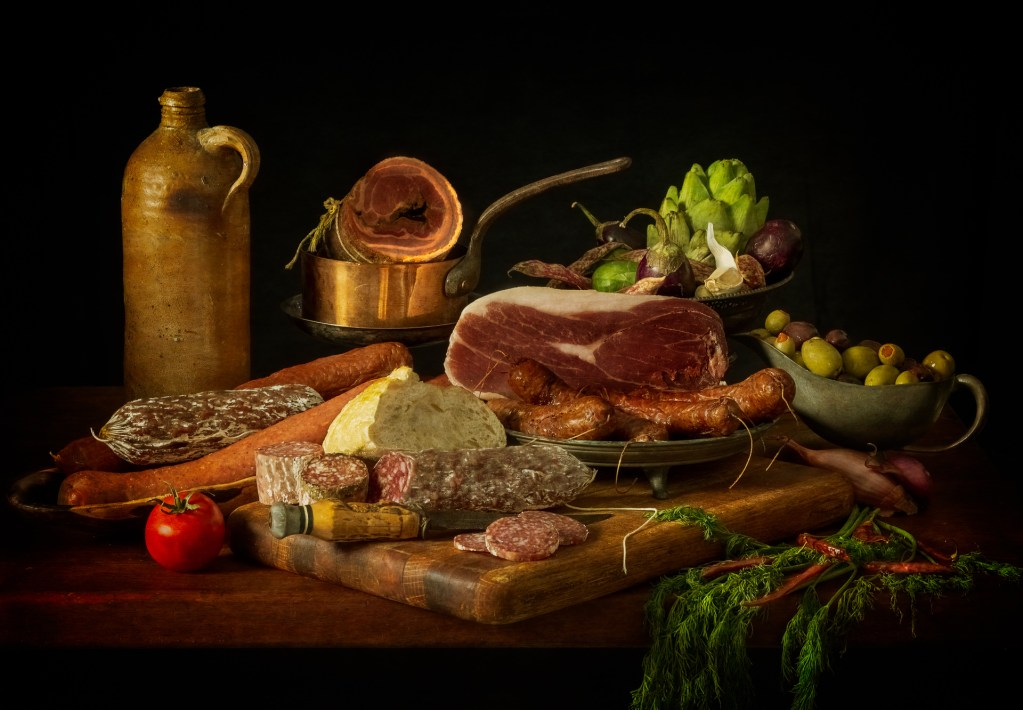 Still Life with Meats and Sausage