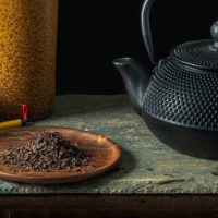 Japanese Tea Pot with Calligraphy Brushes | Still Life Photography