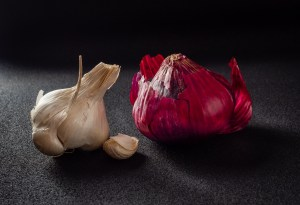 Red Onion and Garlic - Still Life Photograph