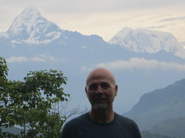 Annapurna Himalayan Range from Sarangkot at sunrise