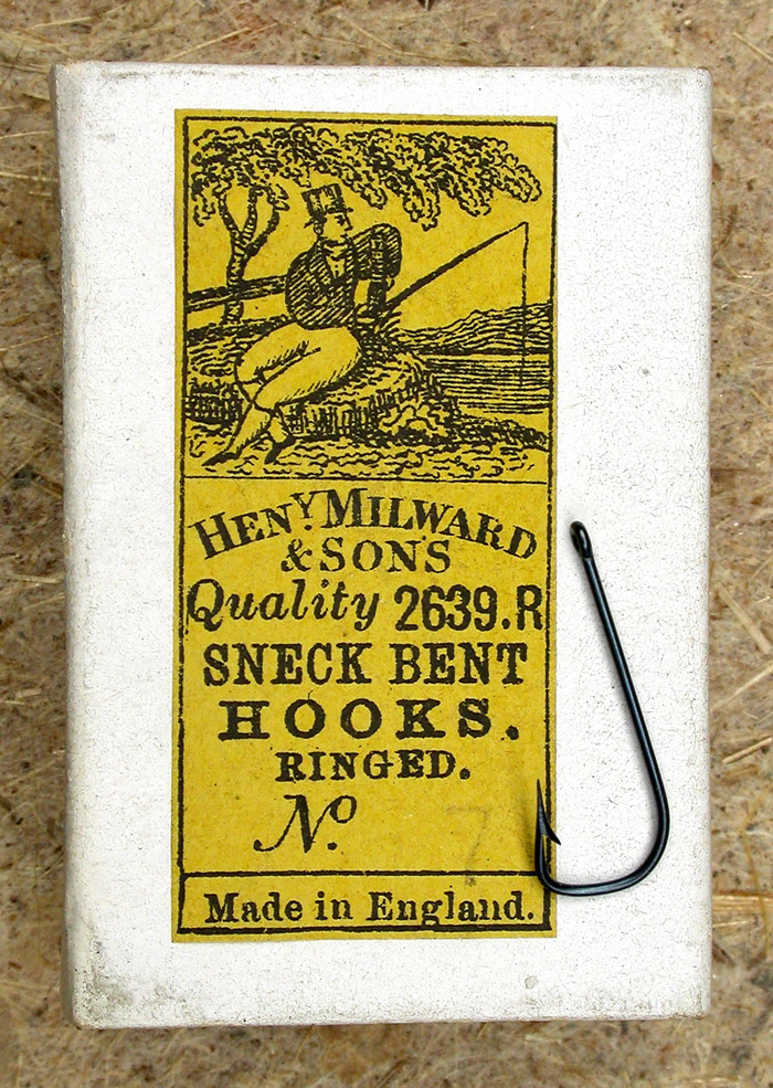 "16. Henry Milward & Sons, Henery Milward & Sons, 2639.R, #7, blued, sneck, ringed, kerbed, 11/16"" long, England."