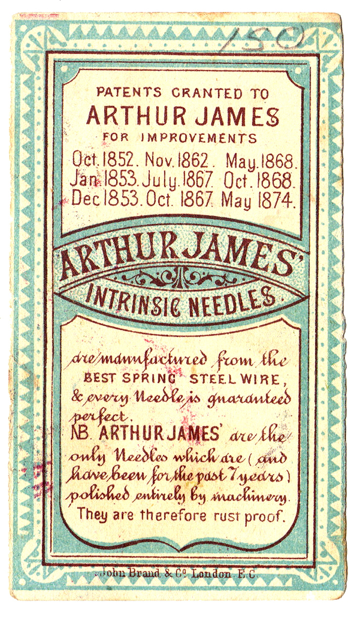 Arthur James trade card, Thom Nefos