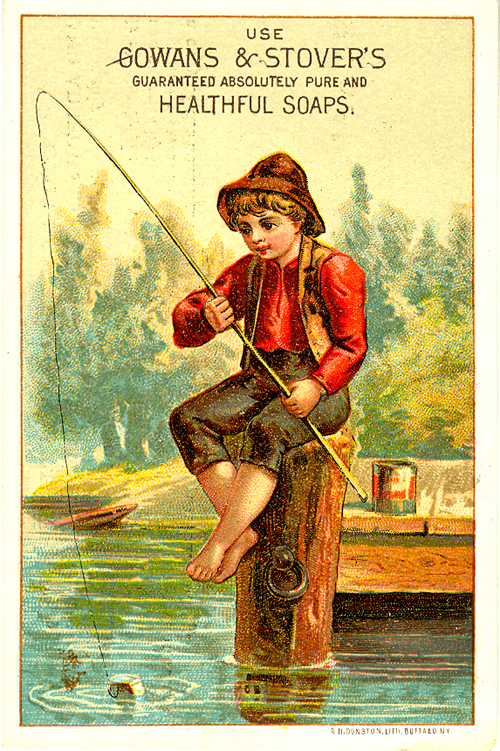 Victorian trade card for Gowans & Stover's soap.