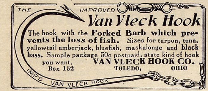 Van Vleck hook advertisement