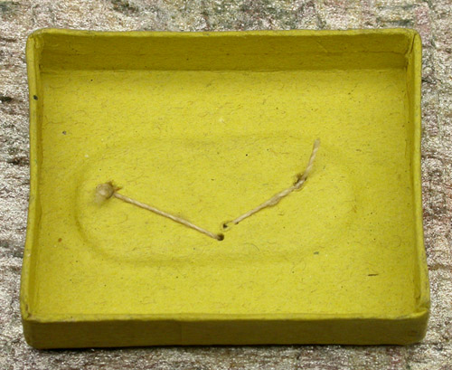 """6d American Fish Hook & Needle Co., #4, limerick, flatted, japanned. About 15/16"""" long. Here you see the American Fish Hook & Needle Co. box in detail. Not only are the boxes different but as you can see by the two hooks from that box are not the same. Actually, as far as fish hooks are concerned, not even close to the same yet there are more in that box and I am certain that these hooks have remained undisturbed since they were made all those years ago. Why I love old hooks!"""