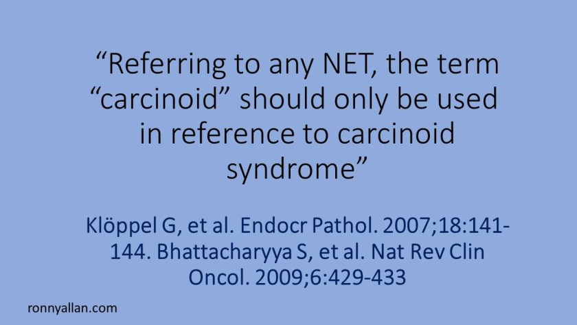 referring to carcinoid