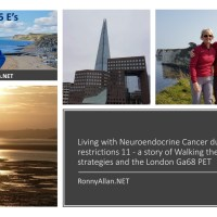 Living with Neuroendocrine Cancer during COVID-19 restrictions 11 - a story of Walking the Wall, coping strategies and the London Ga68 PET