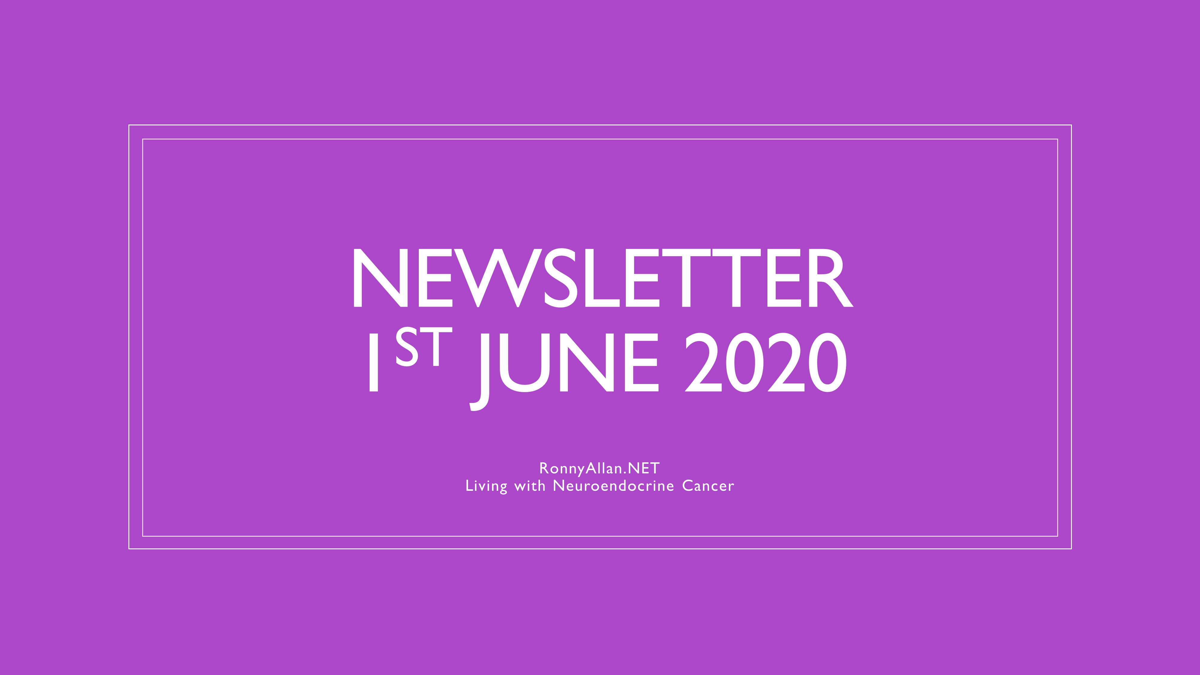 RonnyAllan.NET – Newsletter 1st June 2020