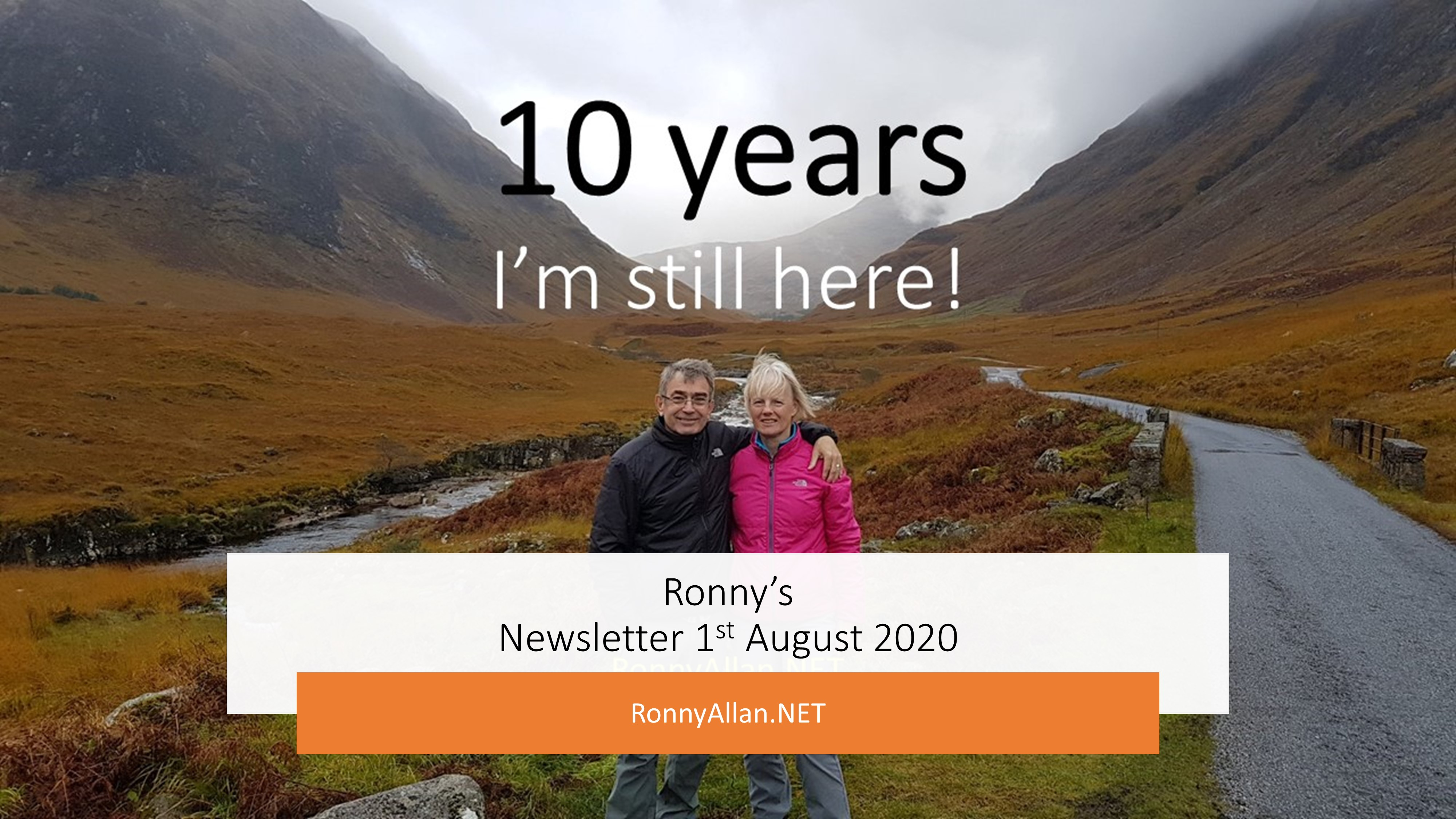 RonnyAllan.NET – Newsletter 1st August 2020