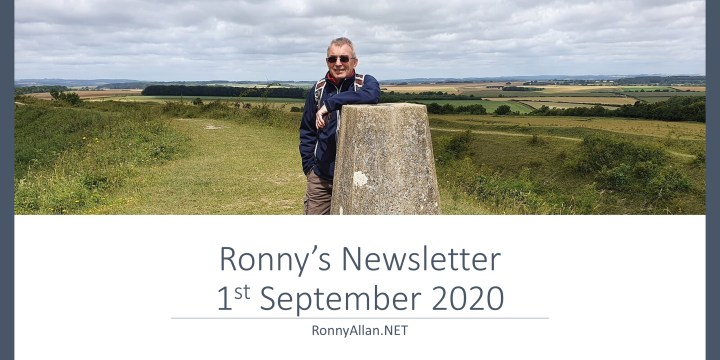 RonnyAllan.NET – Newsletter 1st September 2020