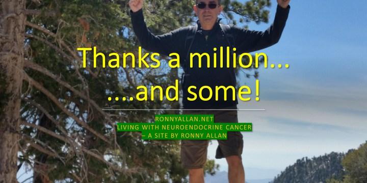 1.4 million thanks!