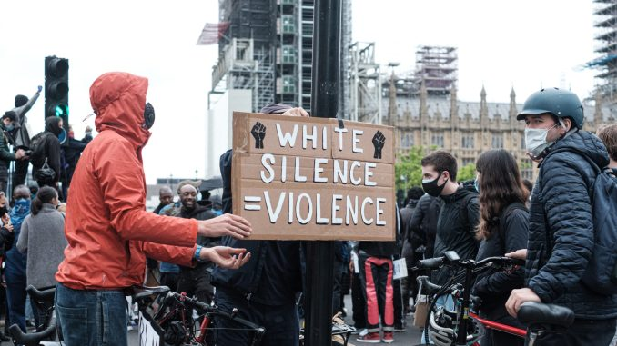 White silence = VIOLENCE