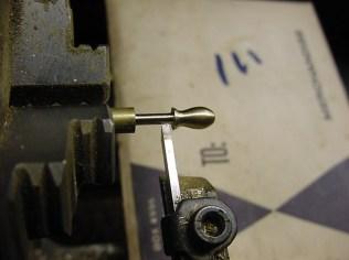 Wheel peg in process