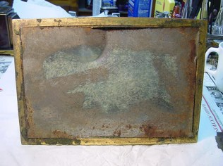 Base in disrepair with wear and corrosion