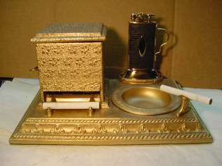 Lighter cigarette dispenser and ashtray