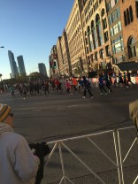 Approaching Grant Park as Wave 1 runs past.