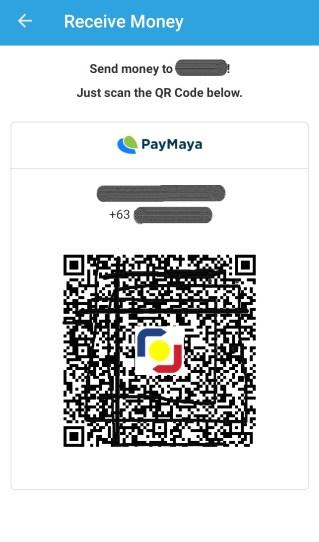 Sample QR code from PayMaya