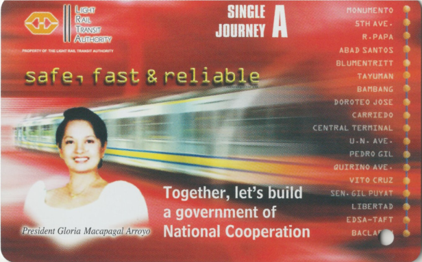 Single Journey A ticket with red background