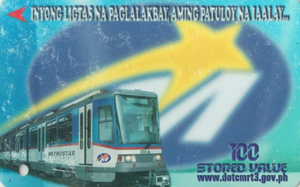 Ligtas na Paglalakbay Single Journey with Metrostar Express blurred background logo