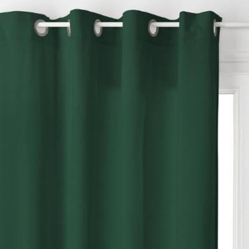 rideau velours lilou uni vert canard 140x260 atmosphera
