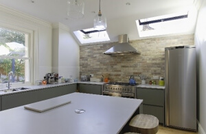 Opening rooflights in kitchen