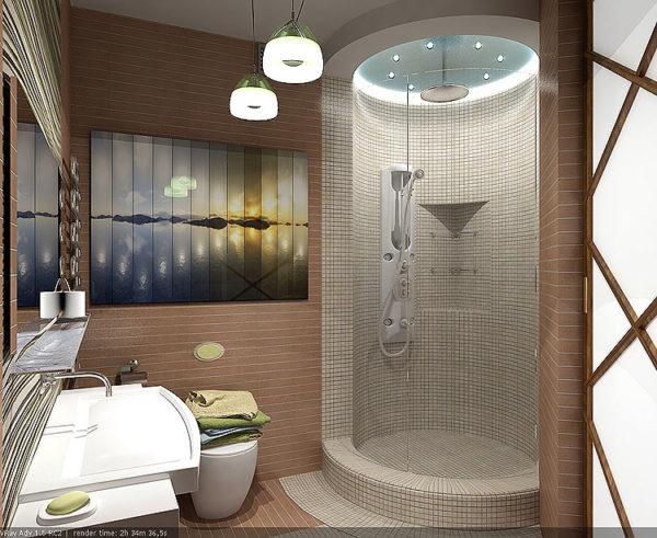 Дизайн ванной комнаты с душевой кабиной (фото 2019 ...