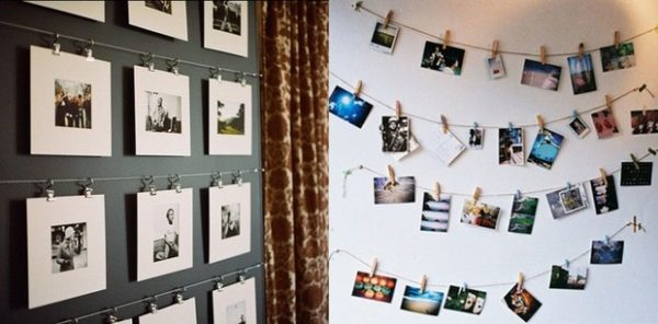 Как красиво развесить фотографии на стене: фото