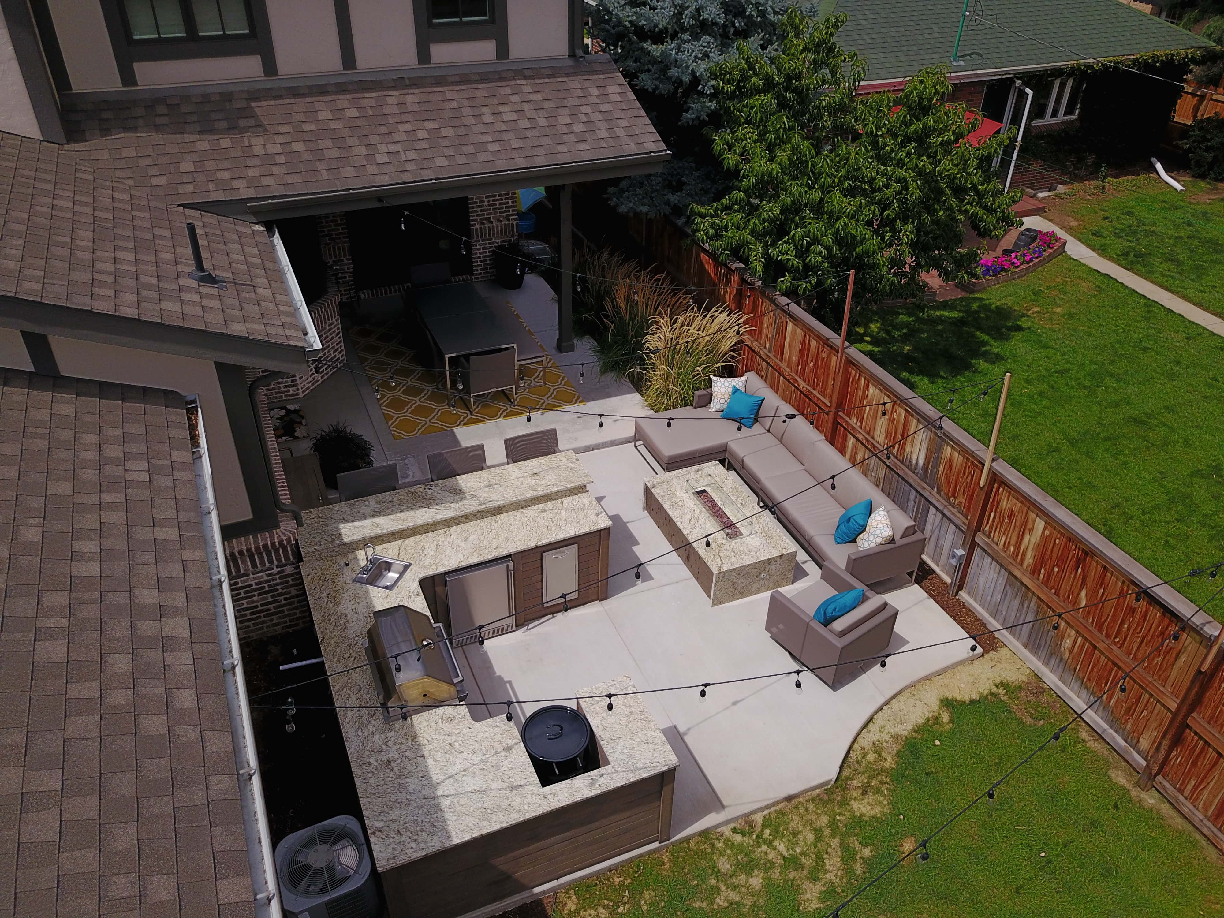 Patio Outdoor Kitchen Amp Fire Pit Denver Roof Decks Pergolas And Outdoor Living Spaces