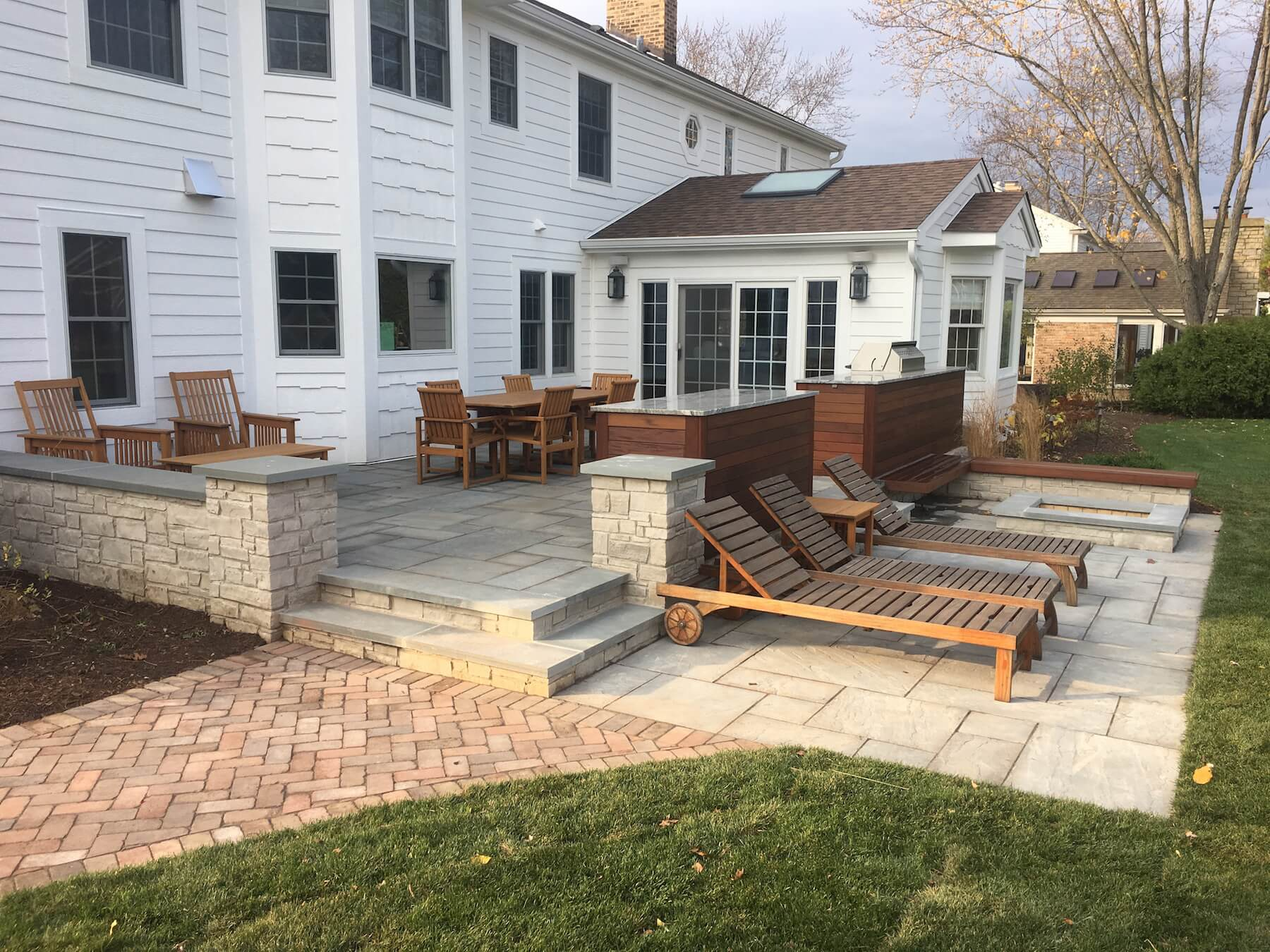Stone Paver Patio - Denver - Roof Decks, Pergolas, and ... on Rock Patio Designs  id=54726