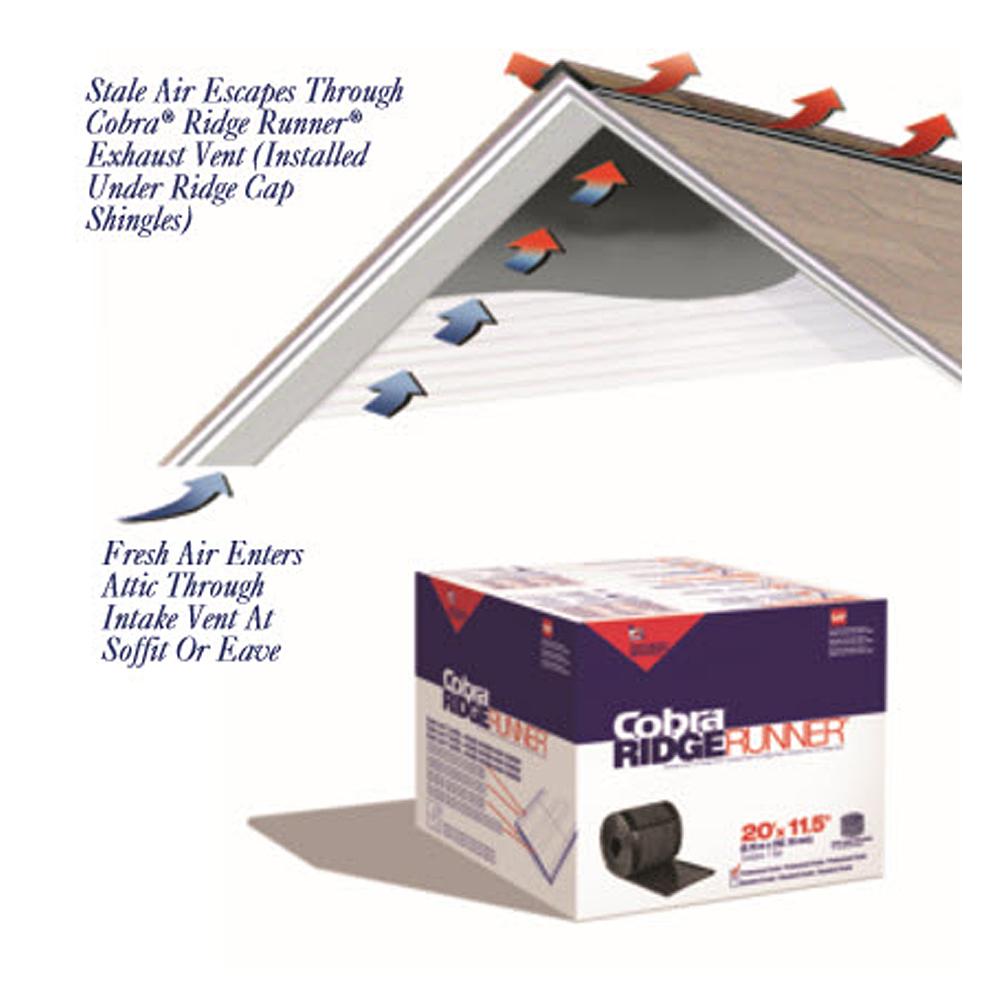 gaf cobra roll ridge vent roofers mart