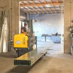 Reach Truck Performs Compact Turns
