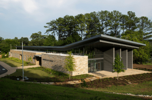 The roof design for the Homewood Board of Education Central