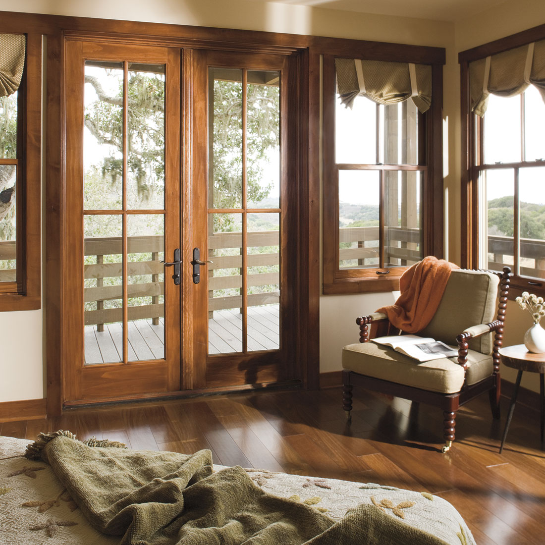 Residential Wood Window Contractor Installation In