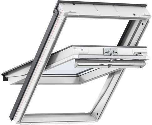 velux ggl mk04 2070 white paint laminated centre pivot roof window 78 x 98cm