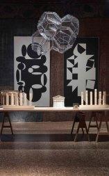 Victor Vasarelly, Tomas Saraceno, Installation view Piano nobile_ Palazzo Fortuny © Jean-Pierre Gabriel