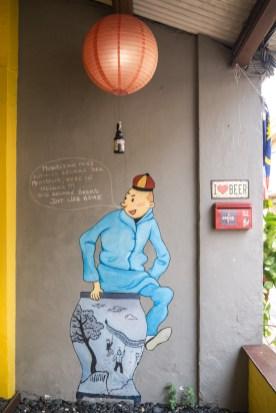 Mural next to a Belgian Bar