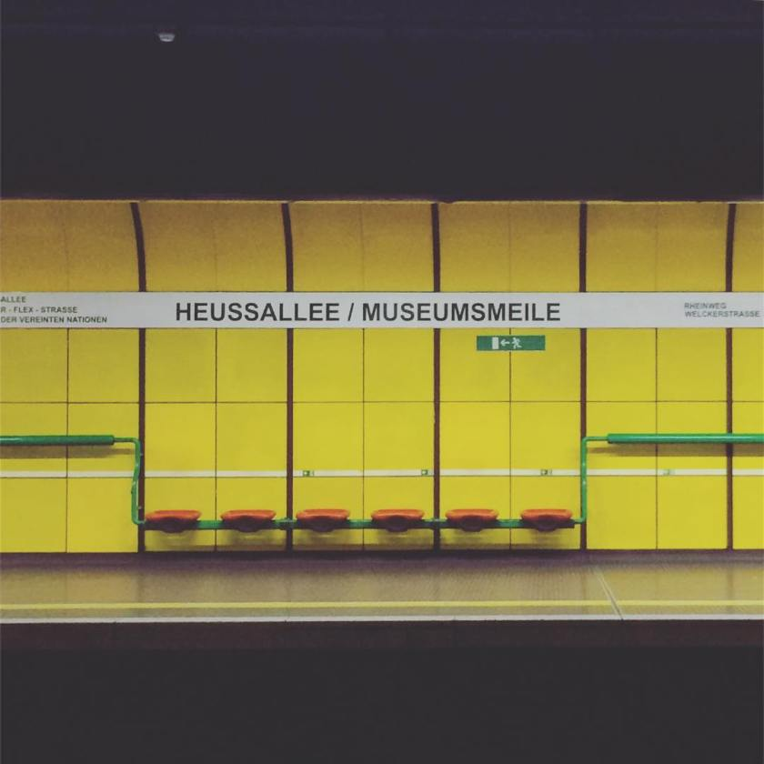 Love these colorful train stations in bonn  surrounded byhellip
