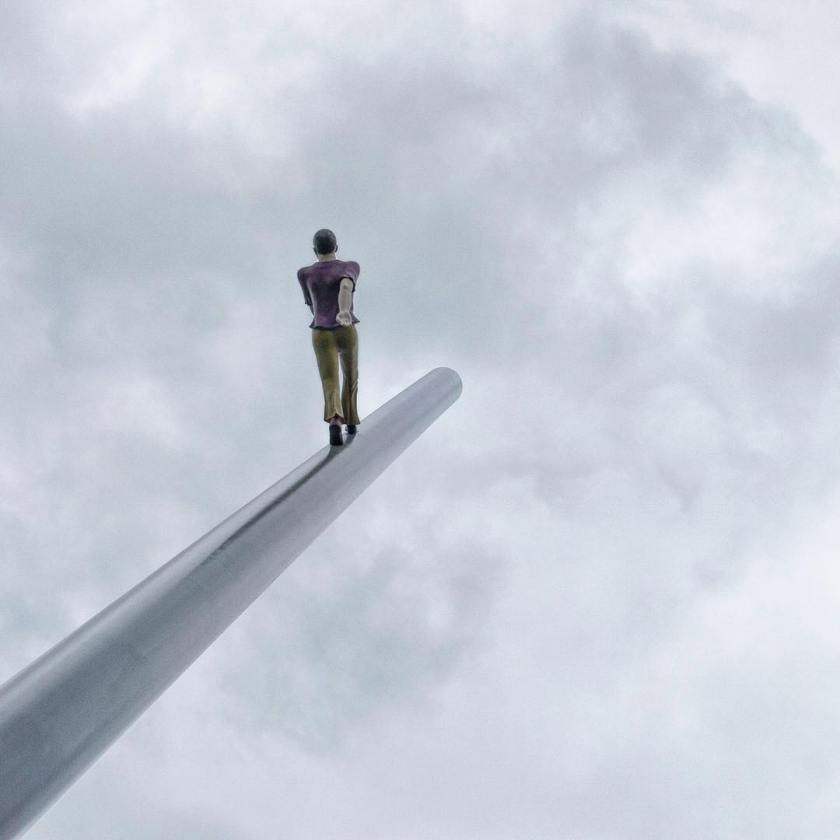 Man Walking to the Sky  sculpture by Jonathan Borofskyhellip