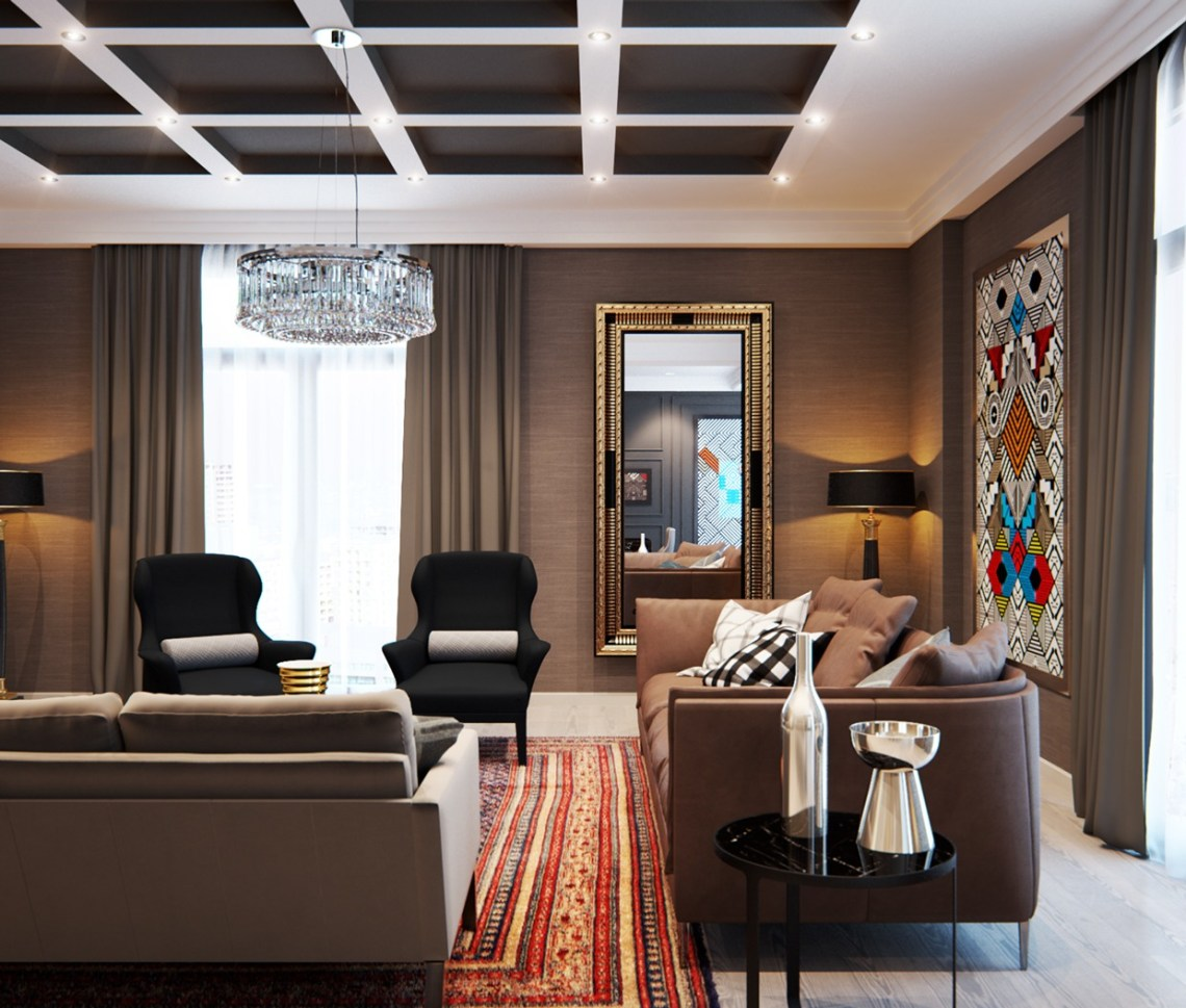 A Modern Interior Home Design Which Combining a Classic ...